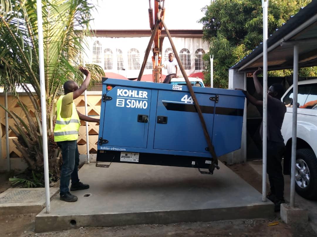 Installation de groupe électrogène à la mairie